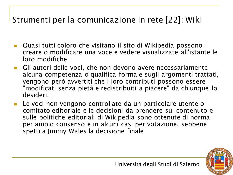 Strumenti per la comunicazione in rete [22]: Wiki